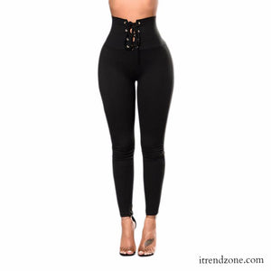 Sexy High Waist Black Leggings - iTrendZone