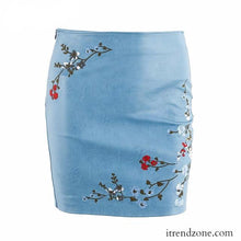 Vintage embroidery leather skirt - iTrendZone
