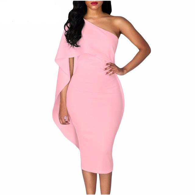 Robe Midi Pencil Dress Bodycon - iTrendZone