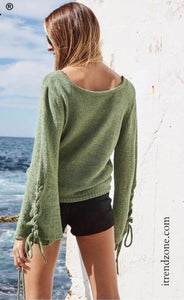 Flared Sleeve  Sweaters - iTrendZone