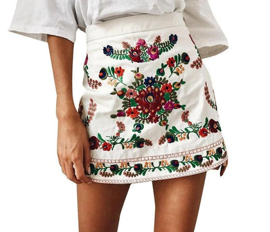 High Waist Floral Mini Skirt - iTrendZone