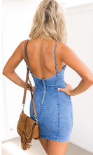 Backless Denim Dress - iTrendZone