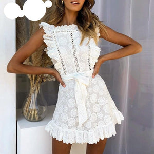 Hollow Out Lace Dress - iTrendZone