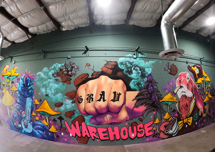 Art by Candy Kuo & Fish in the GRAV Warehouse