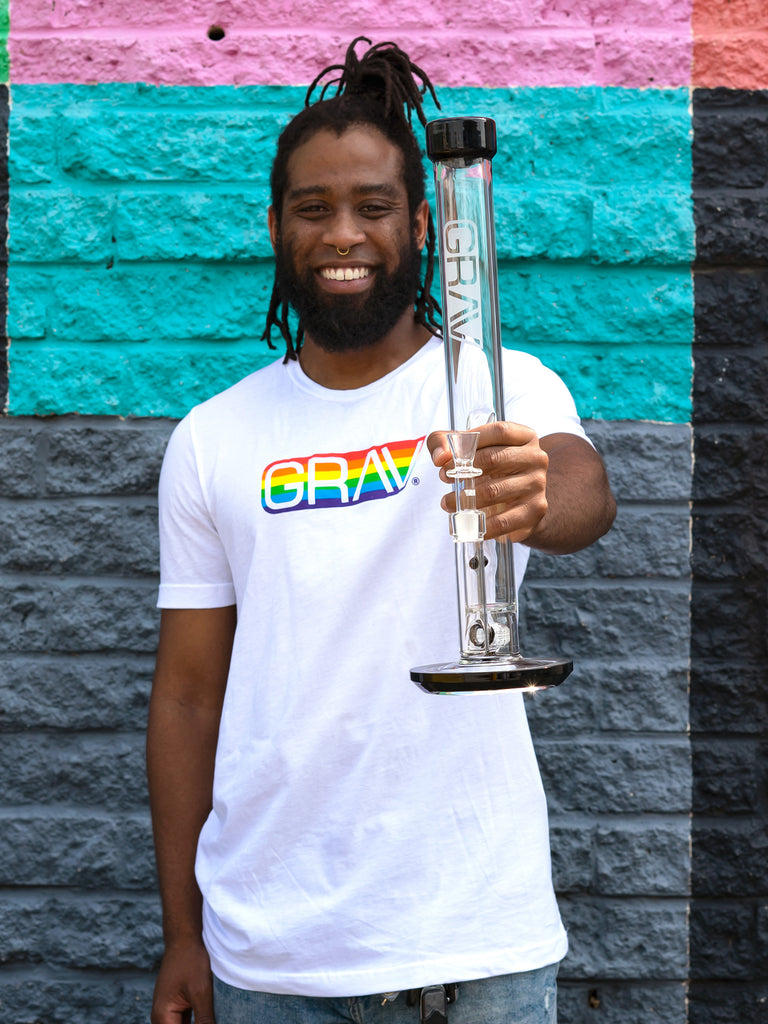 GRAV® Gay Pride Logo T-Shirt
