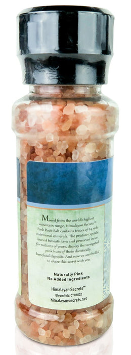 Himalayan Secrets - 8 oz Edible Himalayan Dark Pink Salt - Coarse Grinder