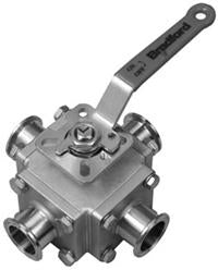 BV4S Multi-port 4-way Sanitary Stainless Steel Ball Valve