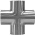 "2.5"" Cross Polished - 316L"
