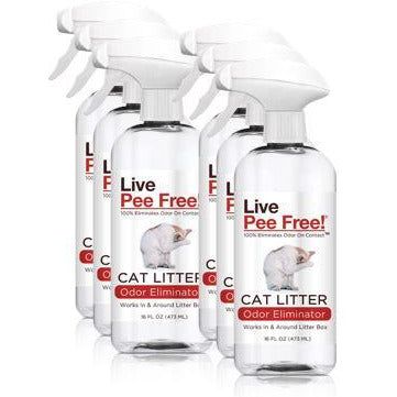 Live Pee Free!® Cat Litter Odor Eliminator - 6 Pack