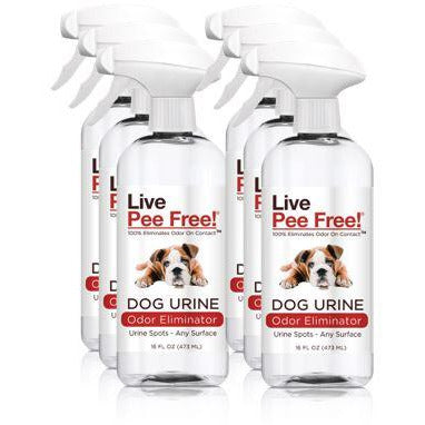 Live Pee Free!® Dog Urine Odor Eliminator - 6 Pack