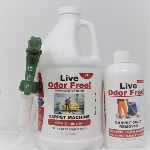 Live Odor Free!® Carpet Machine Kit - Gallon