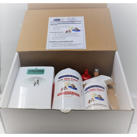 Live Odor Free!®24/7 Mini Odor Eliminator System Kit