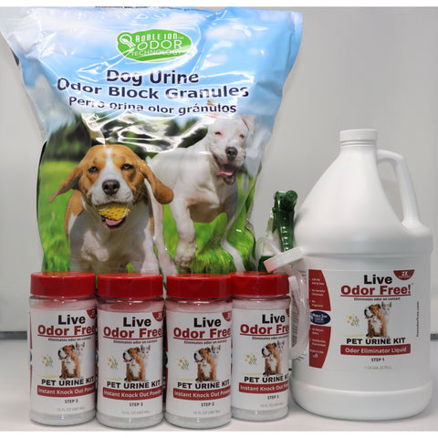 Live Odor Free!® Pet Urine Outdoor and Yard Kit