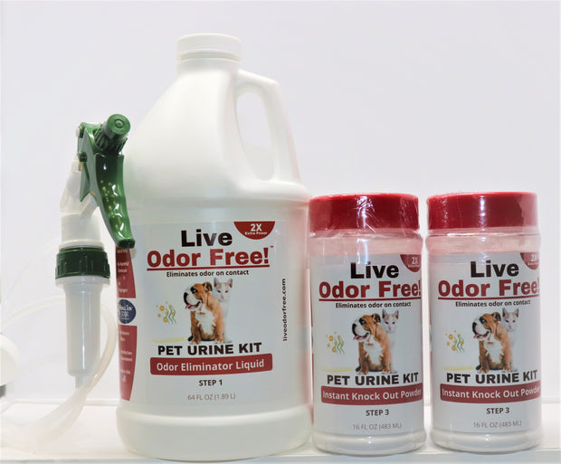 Live Odor Free!® Wood Flooring Kit