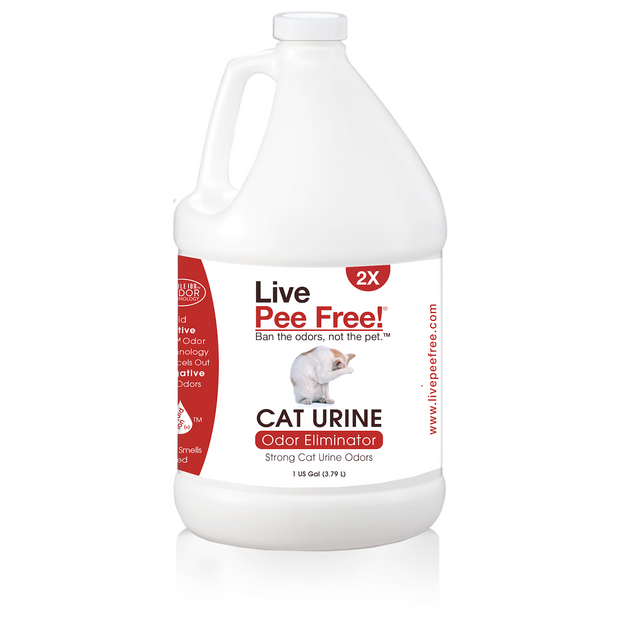 Live Pee Free!® Cat Urine Odor Eliminator 2X