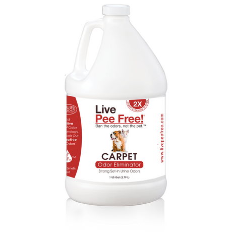 Live Pee Free!® Carpet Odor Eliminator 2x - 1 Gallon