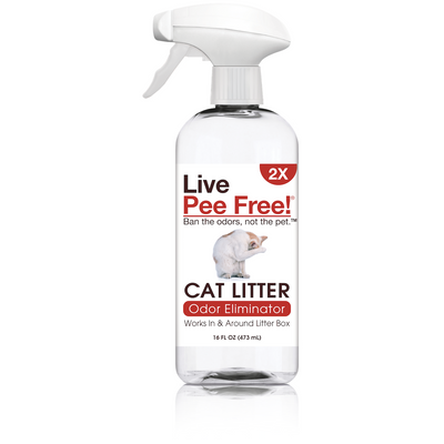 Live Pee Free!® Cat Litter Odor Eliminator 2X