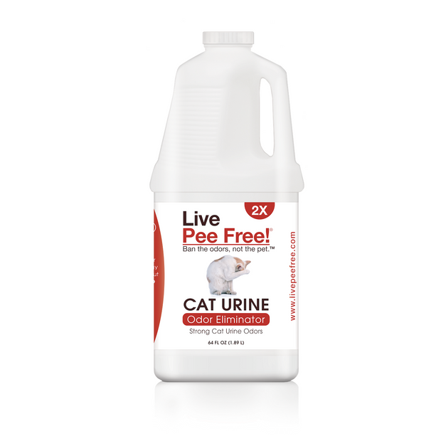 Live Pee Free!® Cat Urine Odor Eliminator 2X - Multi-Cat - 64 oz.
