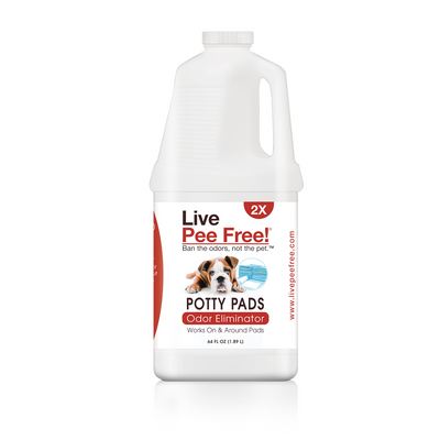 Live Pee Free!®Potty Pads Urine Odor Eliminator 2X - 64 oz