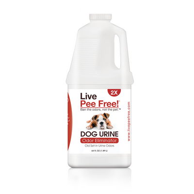 Live Pee Free!® Dog Urine Odor Eliminator 2X - 64 oz.