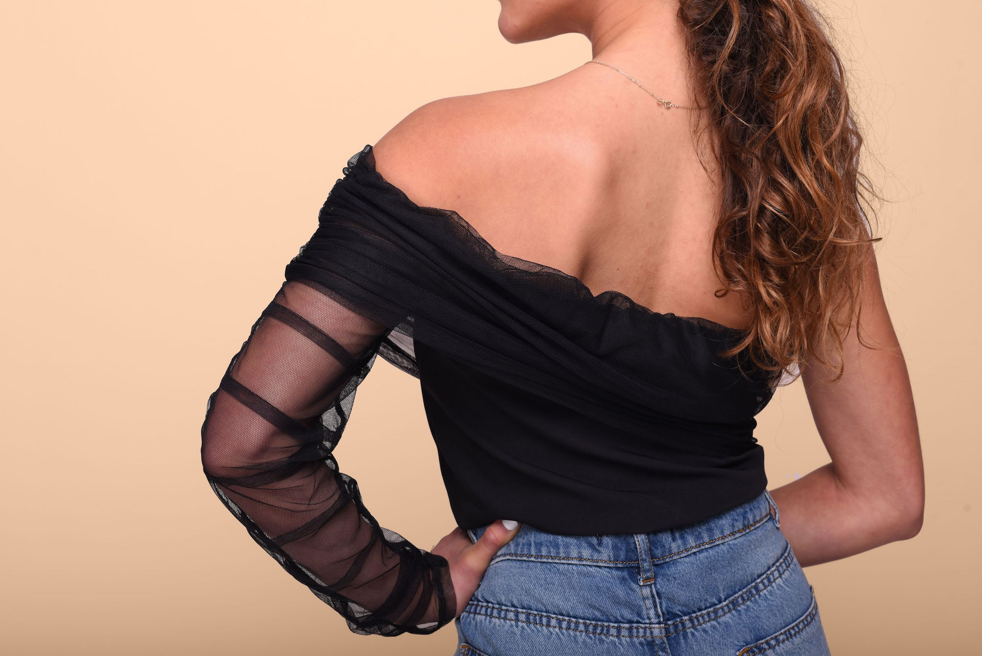 Be mine top in black