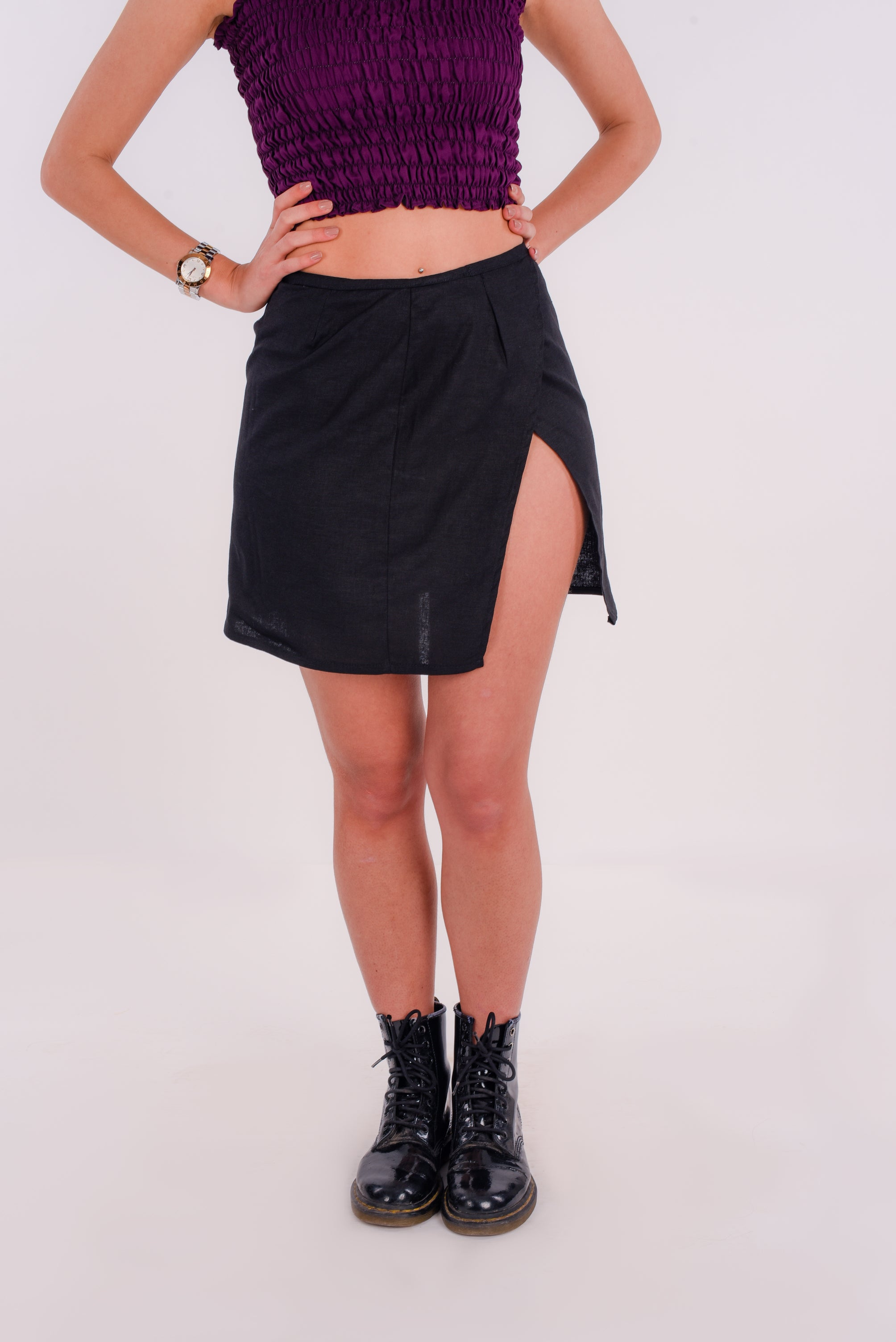 Wrapped skirt in black