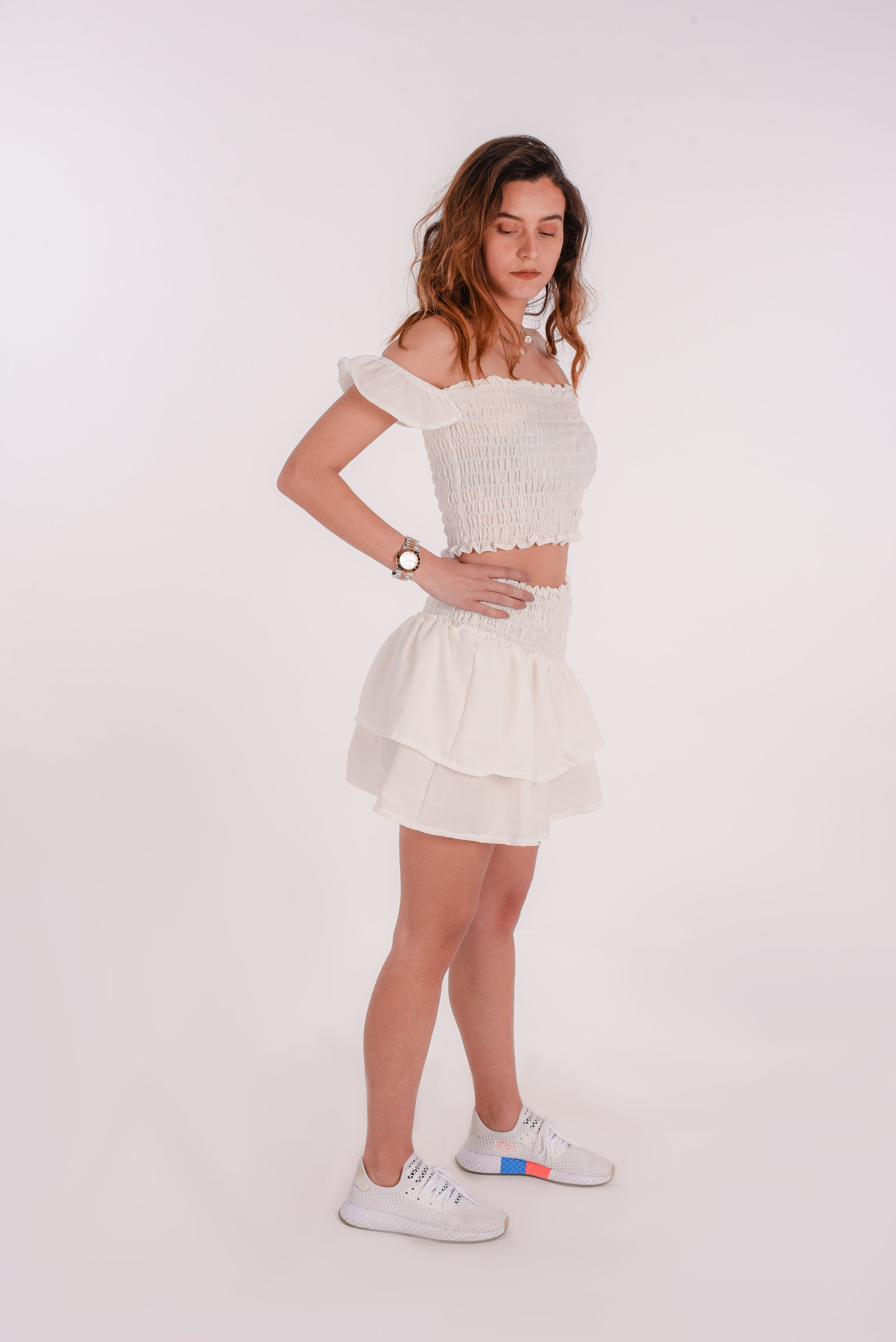Fire skirt in white