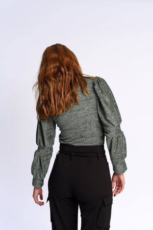 Bella top in green
