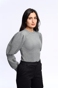 Bella top in grey