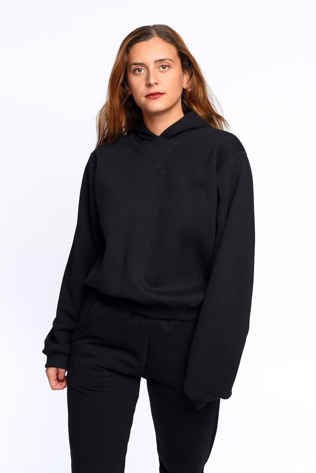 The black sweatshirt