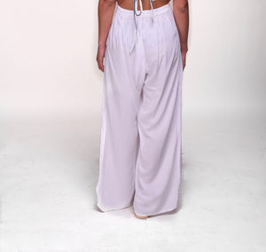 Sunny side up beach pants in white