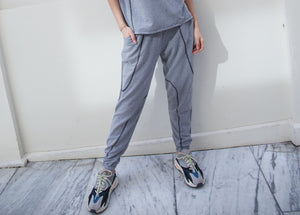 Blow off pants in grey