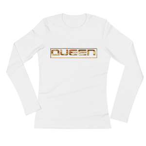 """QUEEN"" Ladies' Long Sleeve T-Shirt. ;"