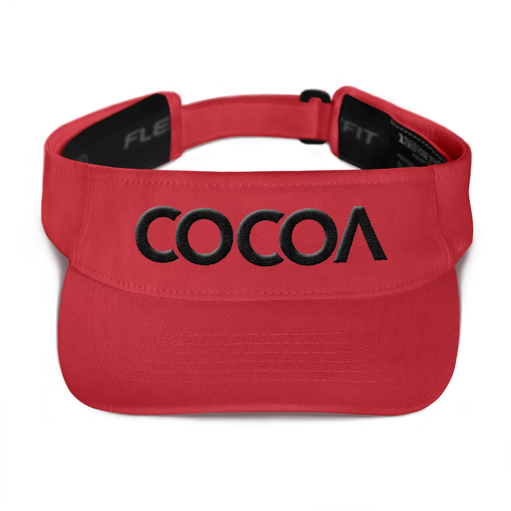 COCOACURE Visor- Black 3D Embroidered COCOA on front