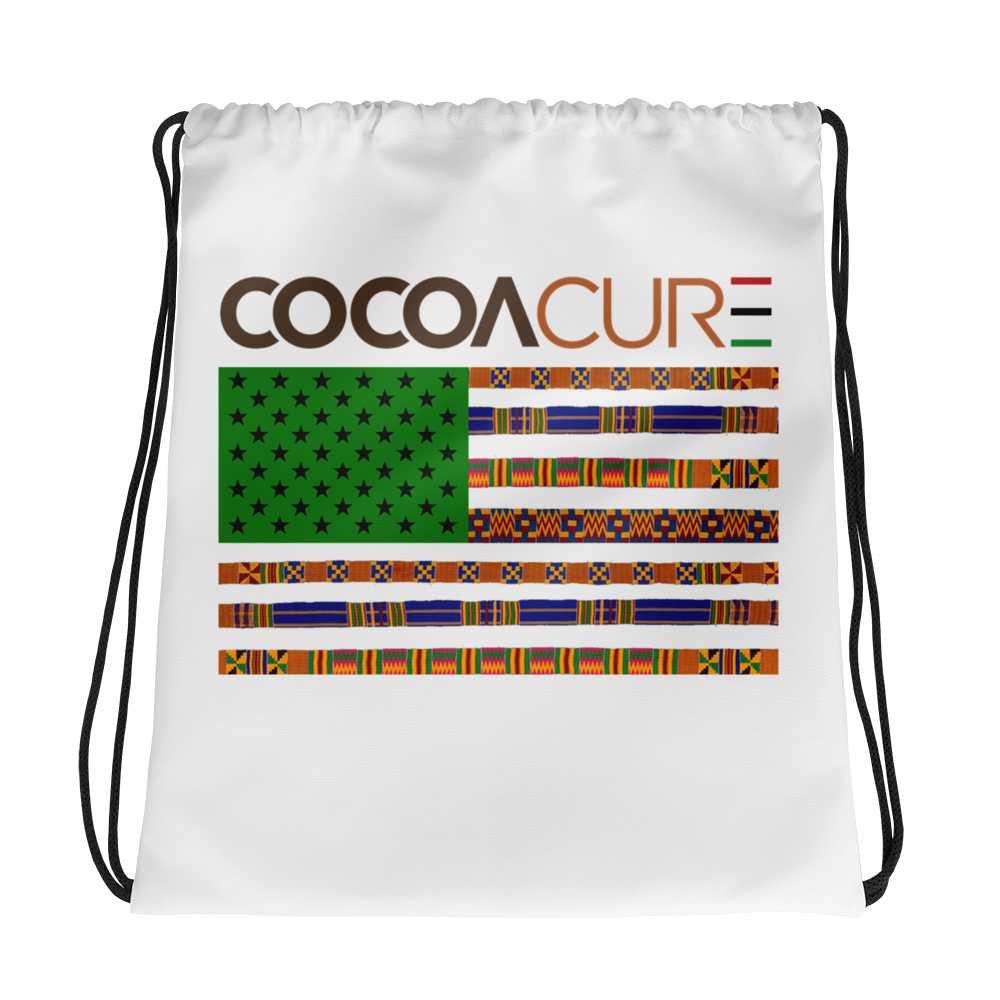 COCOACURE flag Drawstring bag