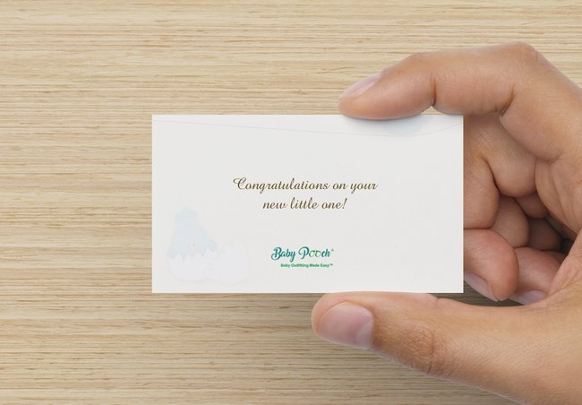 baby shower gift card message