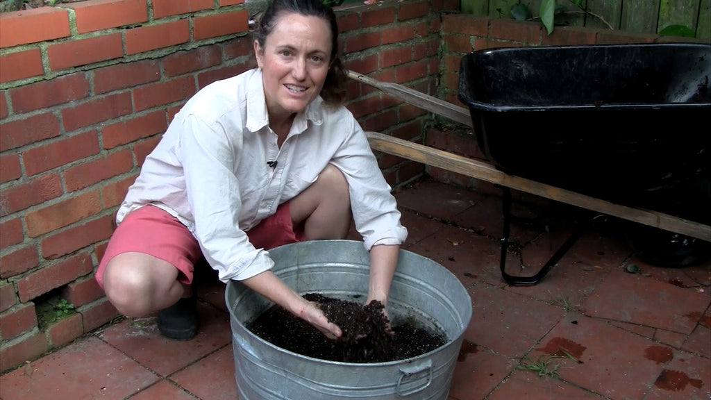 DIY potting soil with coconut coir
