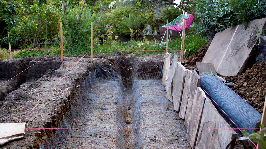drainage trench