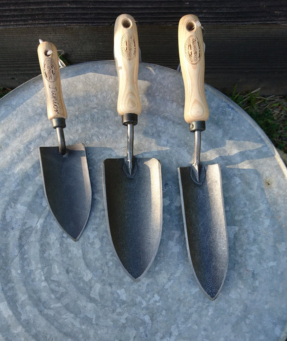 Ash Handle Planting Trowels