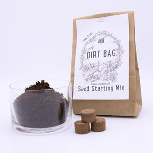 Dirt Bag Seed Starting Soil - Compressed Organic Pellets