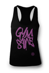 Ladies GYMSANE racerbacks by LFTHVY™ - BLK N LAV ***IS MAXED OUT!! Limited LFTHVY™ design