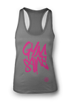 Ladies GYMSANE racerbacks by LFTHVY™ - GREY N PINK ***IS MAXED OUT!! Limited LFTHVY™ design