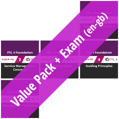 ITIL 4 Foundation: Course Value Pack + Exam (en-gb) [Graphic]