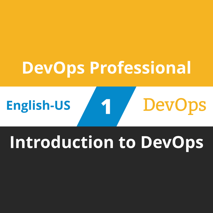 DevOps Professional Course - 1 of 6: Introduction to DevOps [Cover]