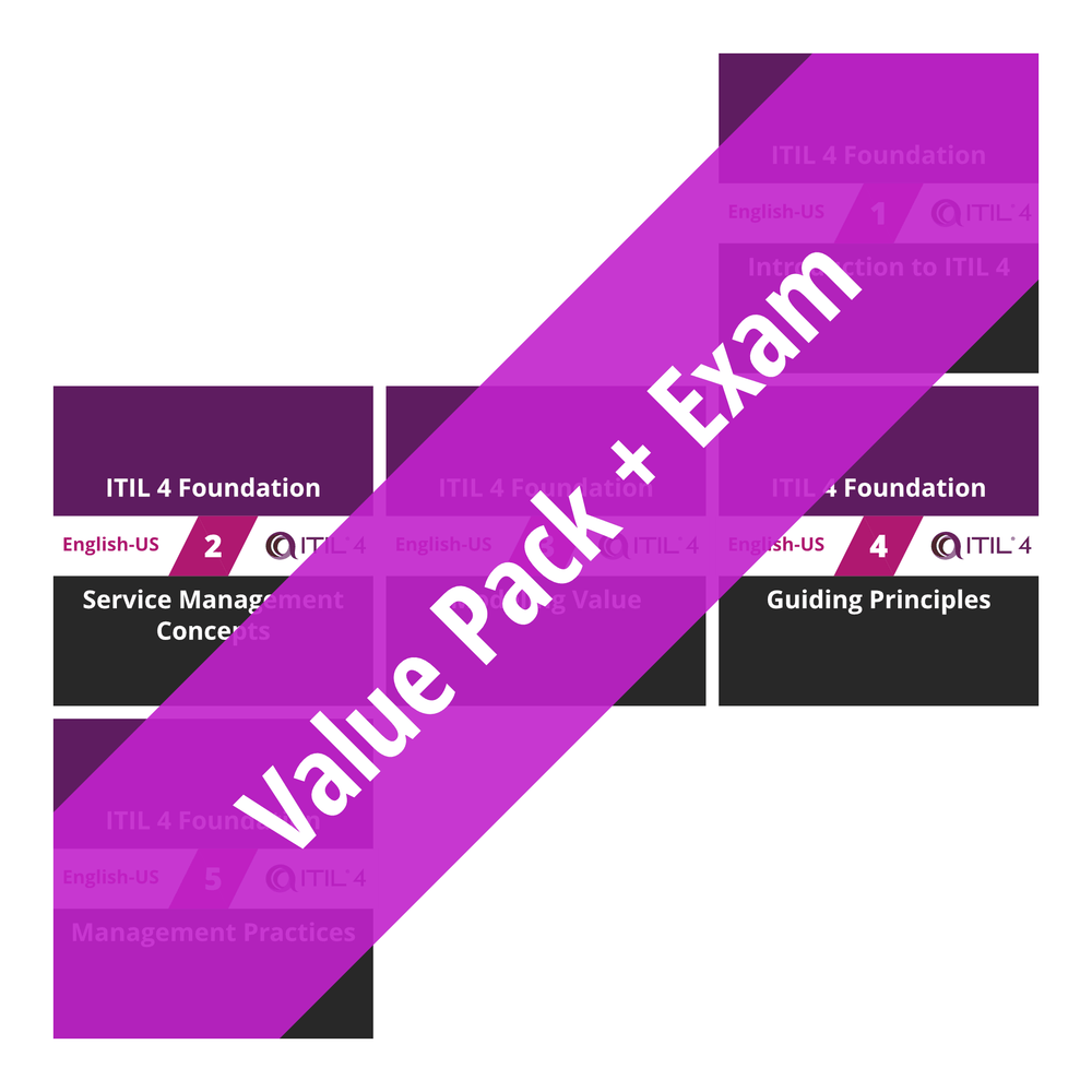 ITIL 4 Foundation: Course Value Pack + Exam [Cover]