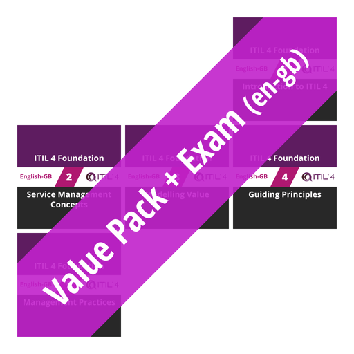 ITIL 4 Foundation: Course Value Pack + Exam (en-gb) [Cover]