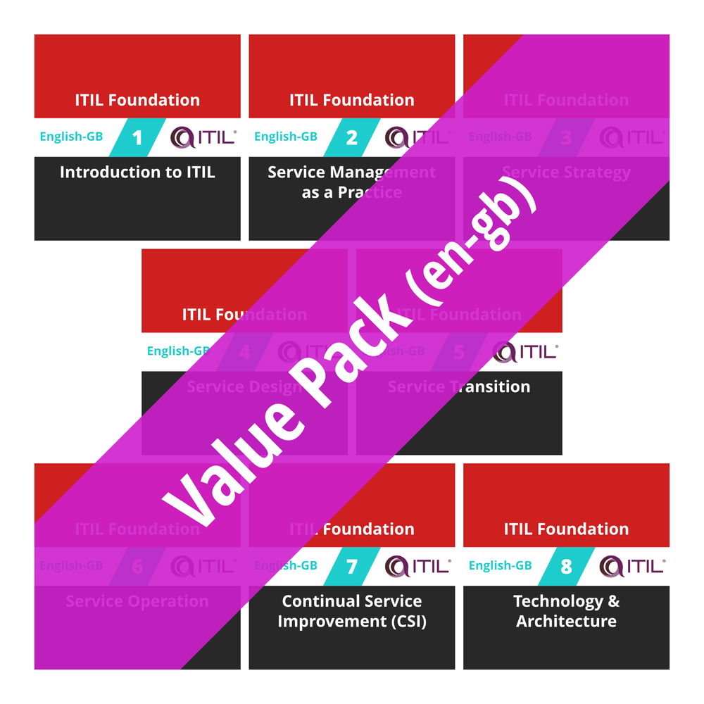ITIL Foundation: Course Value Pack (en-gb) [Cover]