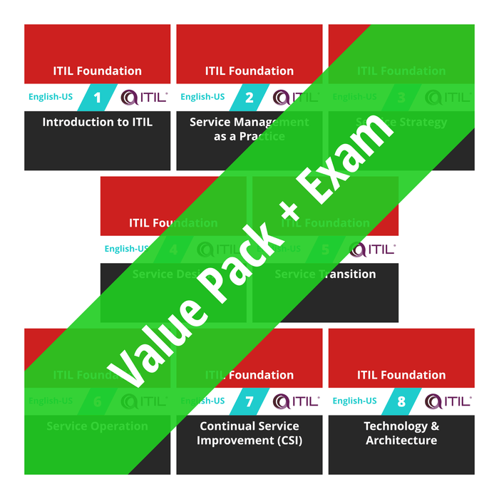 ITIL Foundation: Course Value Pack + Exam [Cover]