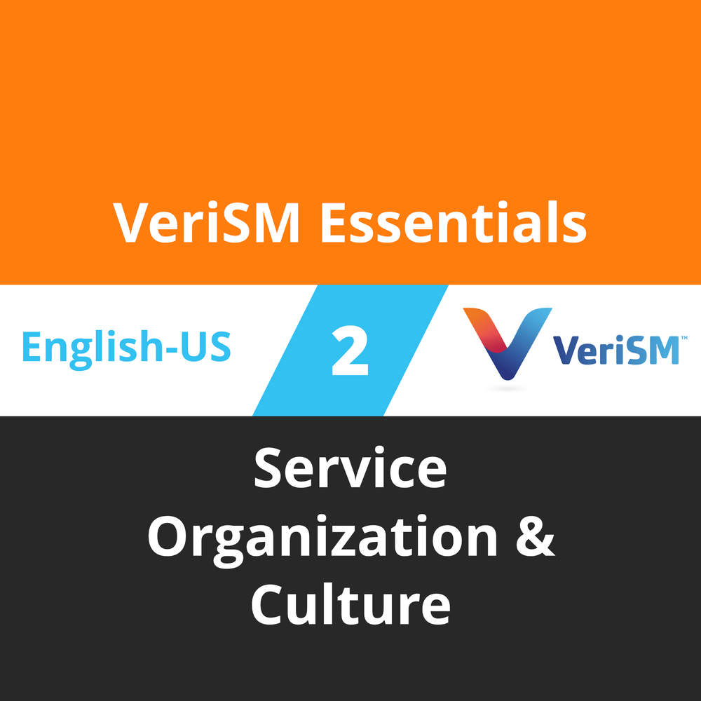 VeriSM Essentials Course - 2 of 4: Service Organization & Culture [Cover]