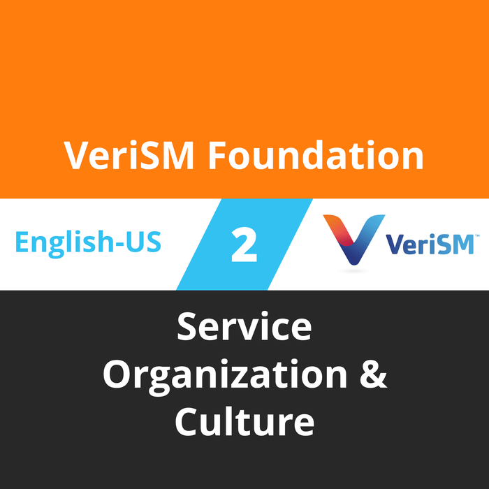 VeriSM Foundation Course - 2 of 6: Service Organization & Culture [Cover]